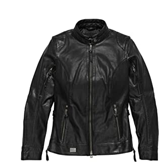 Harley-Davidson Women's Line Stitcher Leather Jacket, Black