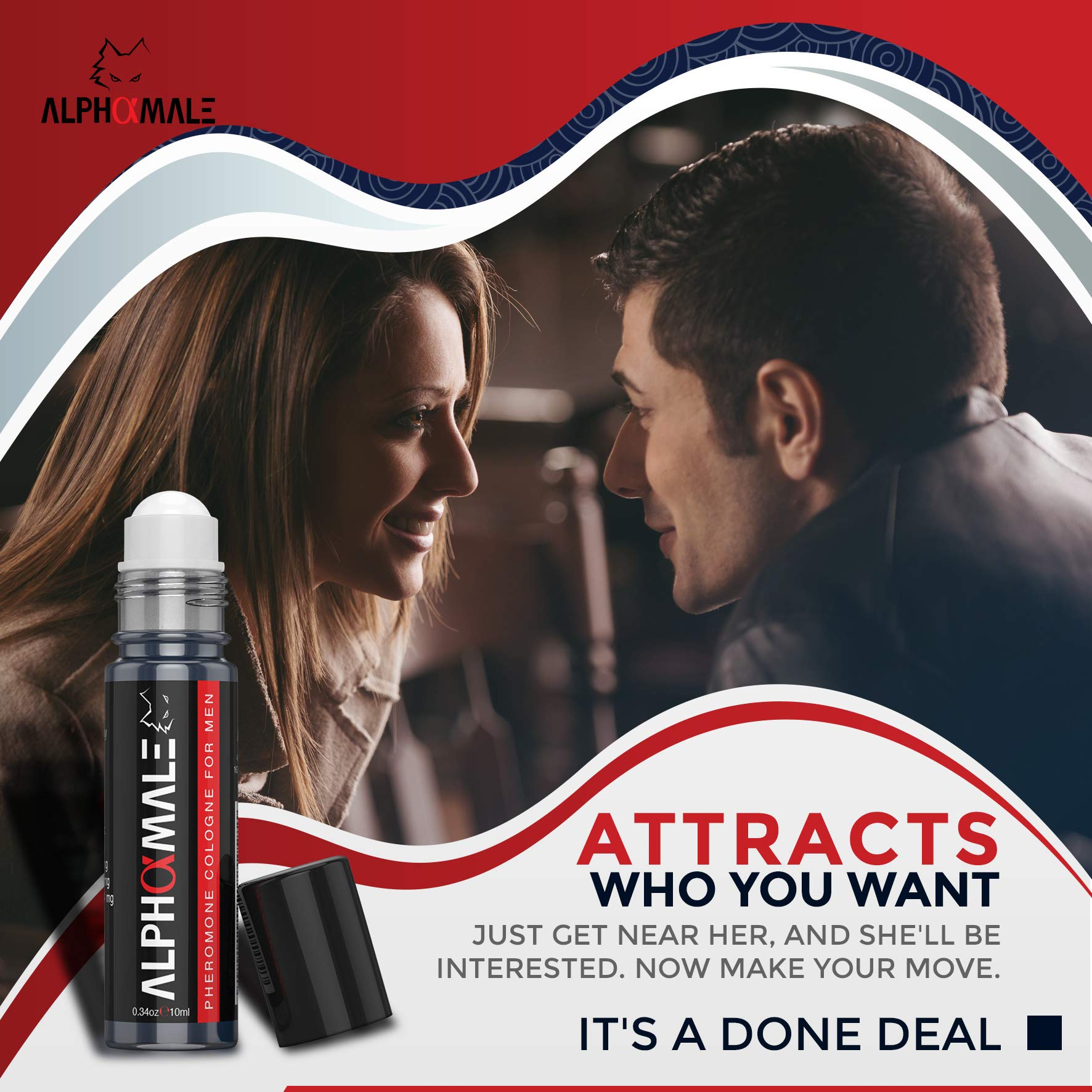 Premium Pheromone Cologne for Men - AlphaMale - Attraction Perfume for Men to Attract Women