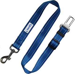 Zenify Dog Car Seat Belt Seatbelt Lead Puppy Harness - Heavy Duty Adjustable Carseat Clip Buckle Leash for Dogs Puppies Pe...