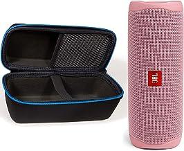 JBL Flip 5 Waterproof Portable Wireless Bluetooth Speaker Bundle with divvi! Protective Hardshell Case - Pink