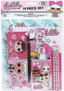 Licensed LOL LOL Surprise! 11pc Stationery Set in bag(Portfolio Folders, notebook, memo pad, eraser.