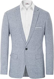 PJ PAUL JONES Men's Casual One Button Suit Blazer Jacket Sport Coat