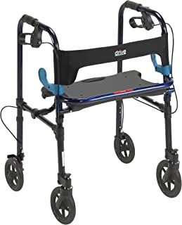 """Best Drive Medical Deluxe Clever Lite Rollator Walker with 8"""" Casters, Flame Blue, Adult Reviews"""