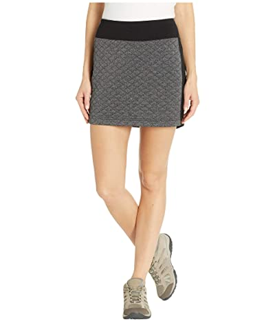 Smartwool Diamond Peak Quilted Skirt (Black Heather) Women