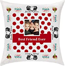 PIXART 16X16 Inchs. Decorative Customized Friends Forever Polyester Satin Cushion/Pillow