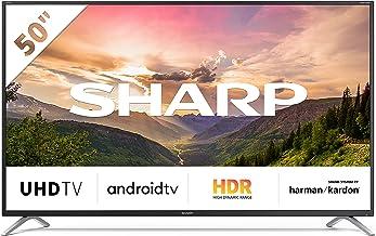 "Sharp Aquos 4T-C50BL2EF2AB - 50"" Smart TV 4K Ultra HD Android 9.0, Wi-Fi, DVB-T2/S2, 3840 x 2160 Pixels, Nero, suono Harman Kardon, 4xHDMI 2xUSB, 2019"