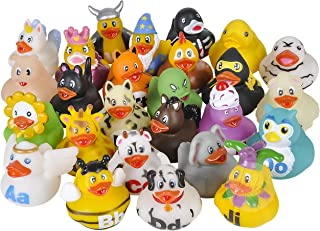 Kicko Alphabet Rubber Duck Toys - 26 Pack - Assorted Duckies for Kids Party Favors, on Birthdays, Baby Showers, All Time F...