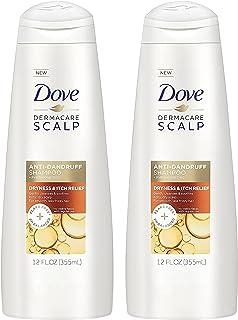 Dove Dermacare Scalp - Anti-Dandruff Shampoo - Dryness & Itch Relief - Net Wt. 12 FL OZ (355 mL) Per Bottle - Pack of 2 Bo...