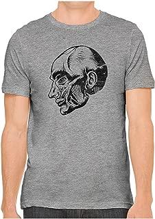 Unisex Fine Jersey Anatomy Muscle Head Print Soft T-Shirt