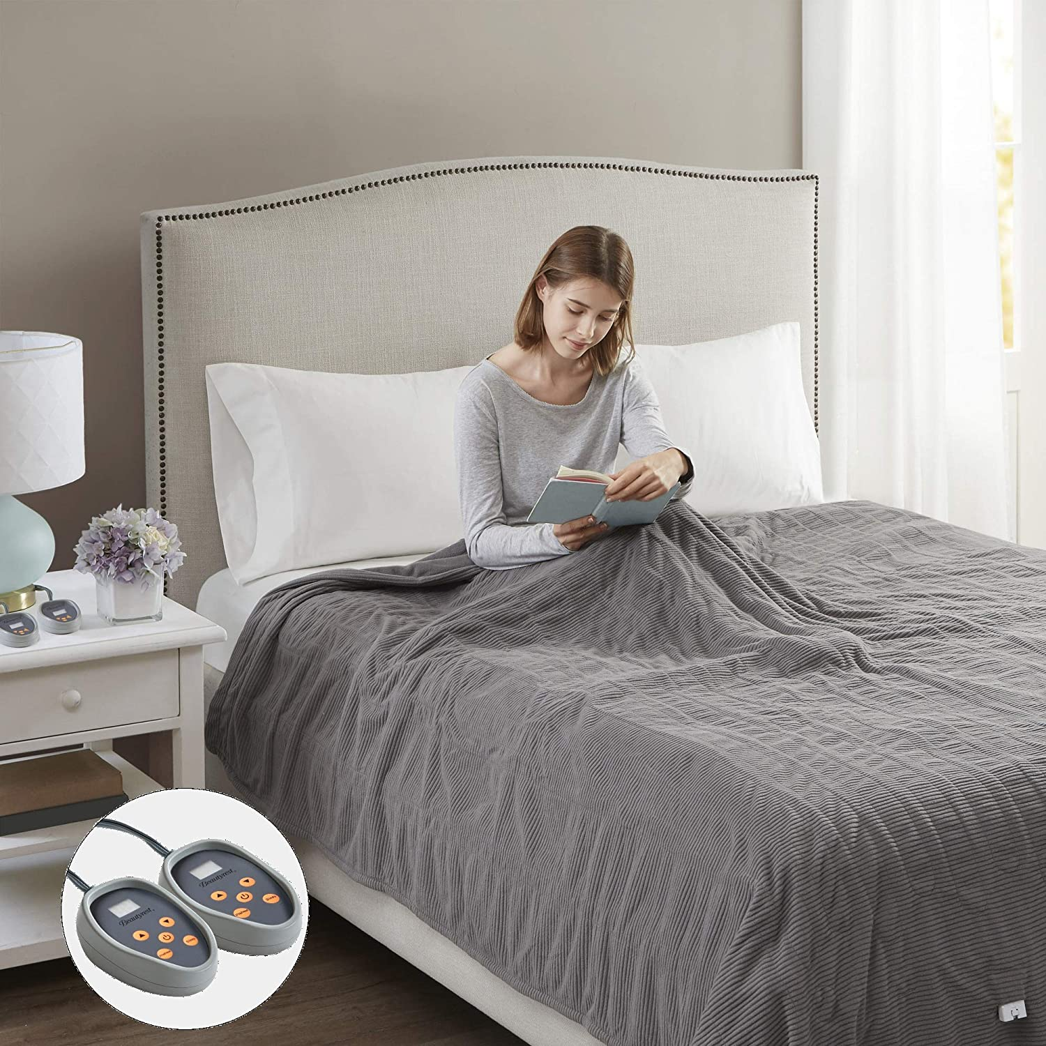 Beautyrest Electric Cheap mail order specialty store Ribbed MicroFleece Luxury Blanket-Secur Cash special price Soft