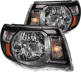 Anzo USA 121191 Toyota Tacoma Black With Amber Reflectors Headlight Assembly - (Sold in Pairs)