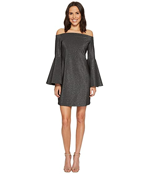 7835184ab54 Vince Camuto Off Shoulder Bell Sleeve Metallic Ponte Dress at 6pm