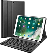 "Fintie Keyboard Case with Built-in Pencil Holder for iPad Air 2019 3rd Gen/iPad Pro 10.5"" 2017- SlimShell Stand Cover w/Magnetically Detachable Wireless Bluetooth Keyboard, Black"