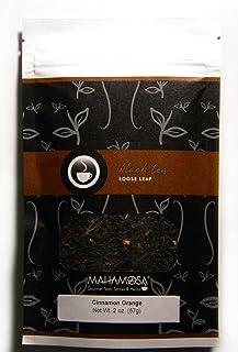 Mahamosa Cinnamon Orange Tea 2 oz - Loose Leaf Flavored Black Tea Blend (with orange peel, cinnamon pieces, ginger pieces,...