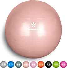 BODYMATE Exercise Ball - E-book with extensive exercise guides included - Swiss balls gym-quality for fitness birthing pregnancy - Air pump included - Anti-Burst ball chair sizes
