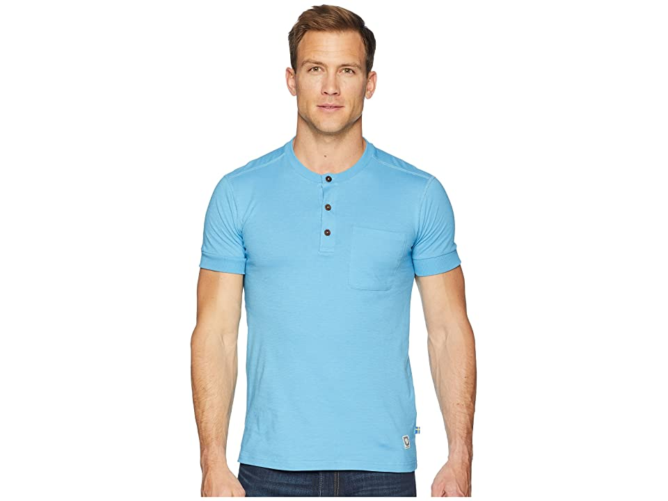 Fjallraven Greenland Buttoned Short Sleeve (Azure Blue) Men