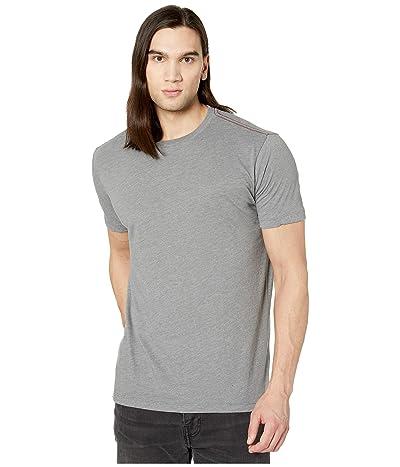 RVCA Solo Label Short Sleeve T-Shirt (Grey/Blue) Men