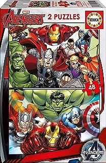 Educa - 15932 - Puzzle Classique - Avengers - 2 X 48 Pièces