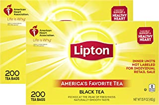 Lipton Tea Bags For A Naturally Smooth Taste Black Tea Iced or Hot Tea That Can Help Support a Healthy Heart 2x200 count t...