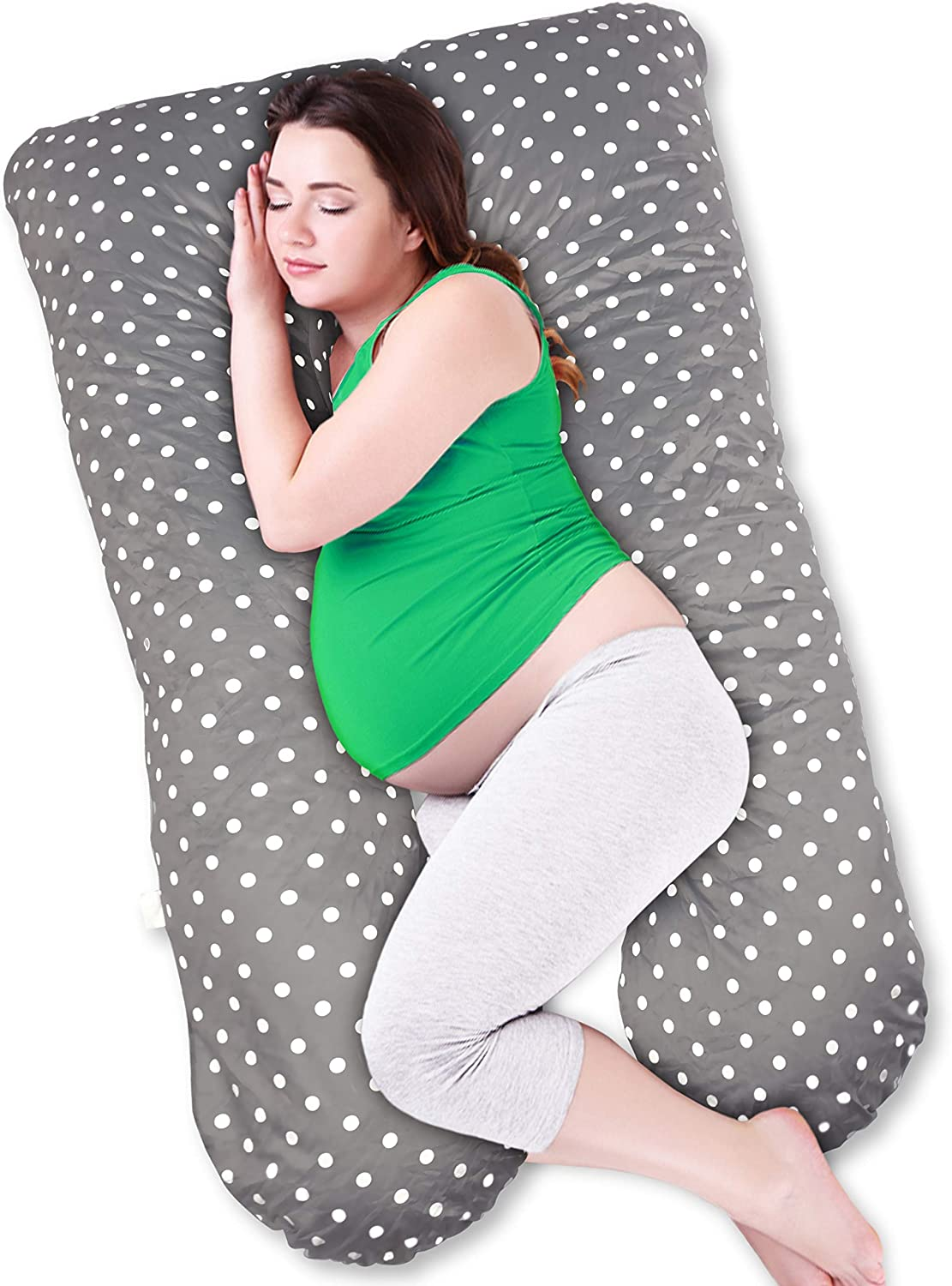 SPECIALLYME U-Shaped Pregnancy Pillow with Removable Washable Cover - Maternity Long Body Pillow I Comfortable Side or Back Sleeping for Mommy I Wife