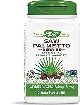 Nature's Way Saw Palmetto Berries, 585 mg, Non-GMO & Gluten Free, Prostate Supplement, 180 Capsules