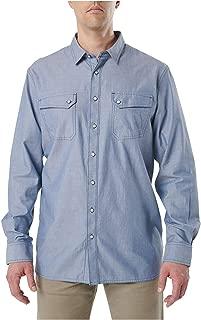 5.11 Tactical Men's Cotton Buckshot Chambray Long-Sleeve Shirt, Diplomat, Style 72464