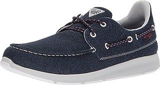 حذاء رجالي PFG من Columbia Delray PFG مصنوع من مادة الكربون، لون أحمر غروب الشمس، مقاس 7 عادي أمريكي