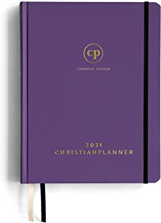 "$26 » 2021 Catholic Planner | Bible Journal and Gratitude Book 7""x10"" Original Hardcover Design with Eco-Friendly FSC Certified ..."