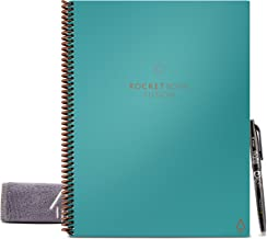 """Rocketbook Fusion Smart Reusable Notebook - Calendar, To-Do Lists, and Note Template Pages with 1 Pilot Frixion Pen & 1 Microfiber Cloth Included - Neptune Teal Cover, Letter Size (8.5"""" x 11"""")"""