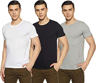 Chromozome Men's Plain Regular Fit T-Shirt (Pack of 3)