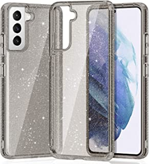"""XNMOA Glitter Clear Case Compatible with Samsung Galaxy S21+ 6.7"""" Transparent Reinforced Corners TPU Shock-Absorption Flex..."""