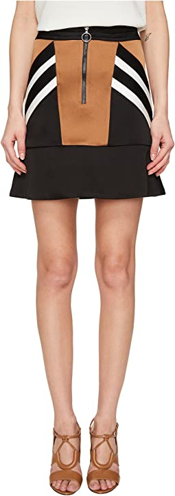 Retro Modernist III Rayon Stripes + Cady Stripes Skirt