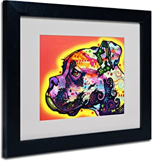 Profile Boxer Matted Artwork by Dean Russo with Black Frame, 11 by 14-Inch