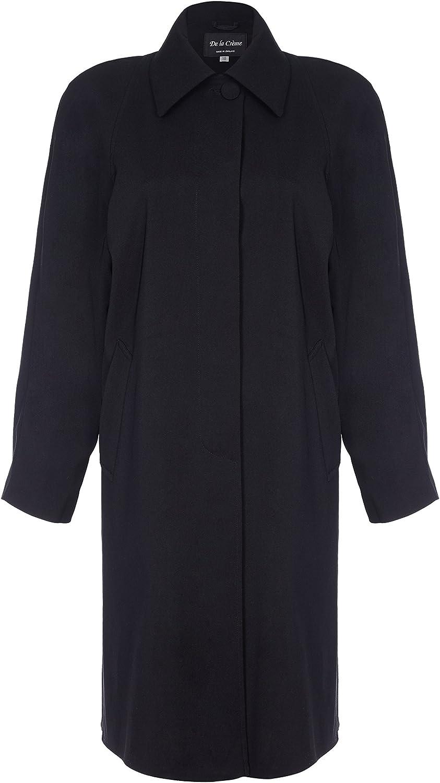 De La Creme Women`s Spring Long Fly Front Raincoat