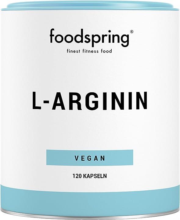 L-arginina foodspring , 120 capsule, per un migliore apporto di nutrienti B01N15DG0N