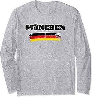 München Germany German Flag Long Sleeve T-Shirt