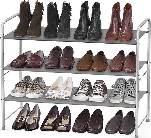 high quality Simple 2021 Houseware 3-Tier Shoe Rack Storage Organizer, online Grey online