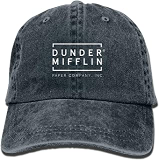 Dunder Mifflin Paper Lnc Unisex Adult Adjustable Trucker Dad Hats Navy