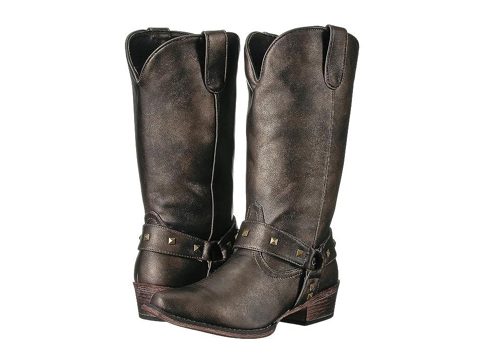 Roper Nina (Brown Metallic) Cowboy Boots