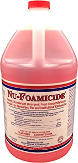 Glissen Chemical Nu-Foamicide EPA Registered 1-Gal All Purpose Cleaner Concentrate, Makes 32 Gallons of Disinfectant/Detergent/Food-Contact Sanitizer/Virucide, Industrial Commercial Grade