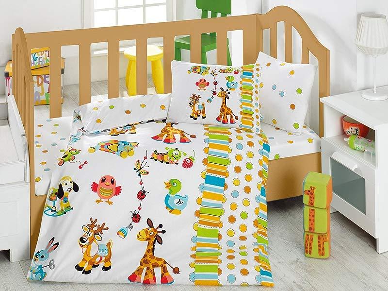 Giraffe Playground Polka Dot Bedding Set 100 Cotton Baby Boys Crib Bedding Baby Duvet Cover Set Baby Comforter Included Made In Turkey 5 Pieces Playground Polka Dot