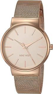Nine West NW/2476RGRG Reloj de pulsera de malla en tono oro rosa para mujer
