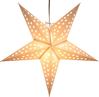 White Serenity Paper Star Lantern with 12 Foot Power Cord Included