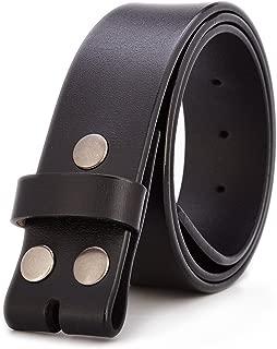 Gurscour Men's Belts Genuine Leather Belt without Buckle 1.5