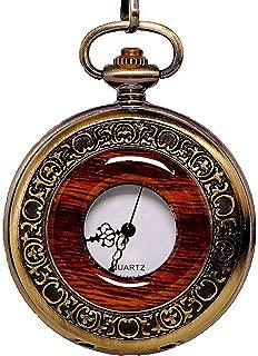 Vintage Quartz Pocket Watch with Chain