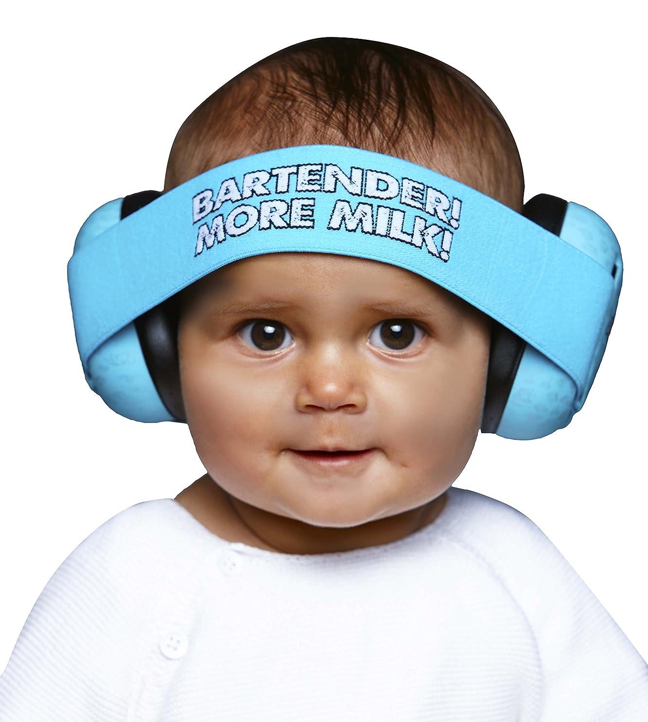 ドライバシェアドライSafe Ears ベビー向け 防音イヤーマフ Baby BananaMuffs Blue