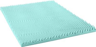 Comfort Essentials - Cubierta de Espuma viscoelástica con Textura de Gel, 10,16 cm, tamaño Queen