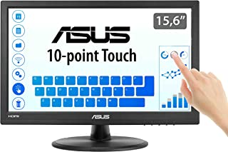 ASUS VT168H 15.6 Inch Monitor, 1366 x 768, TN, 10-Point Touch Monitor, HDMI, Flicker Free, Low Blue Light, TUV Certified