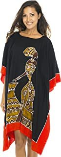 Womens Short African Beach Swim Suit Cover Up Caftan Poncho
