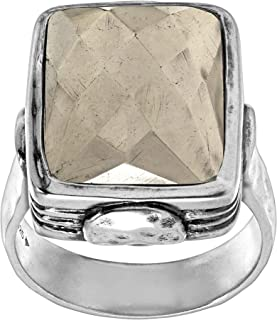 Amarillo' Natural Pyrite Ring in Sterling Silver